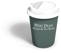 West Dean Stores coffee cup
