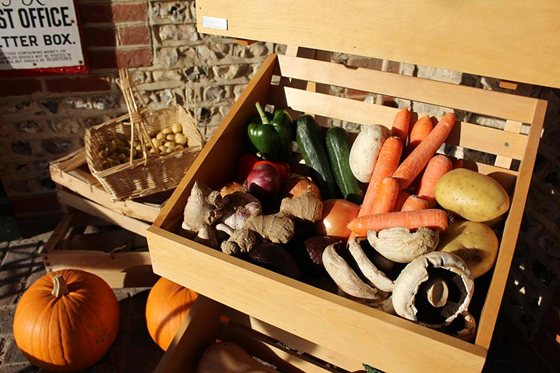West Dean Stores veg box (photograph credit Steve Tattersall)