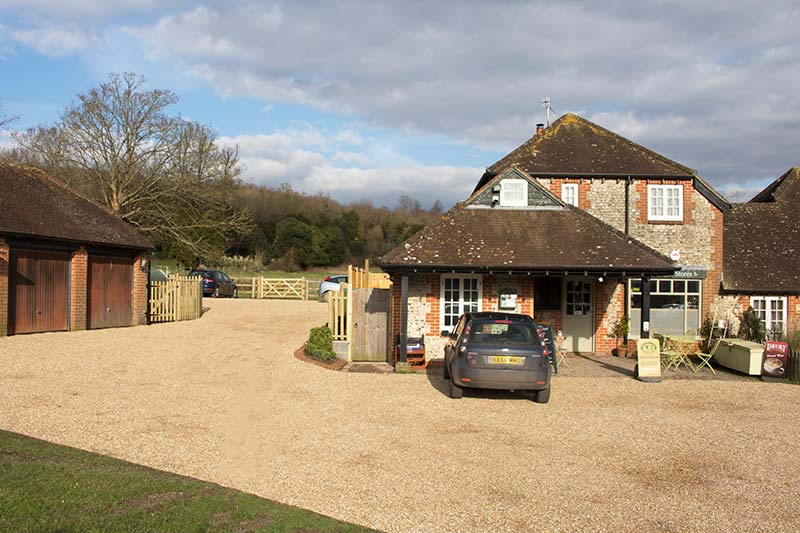 West Dean Stores with free parking (photograph credit Steve Tattersall)