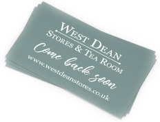 West Dean Stores loyalty card